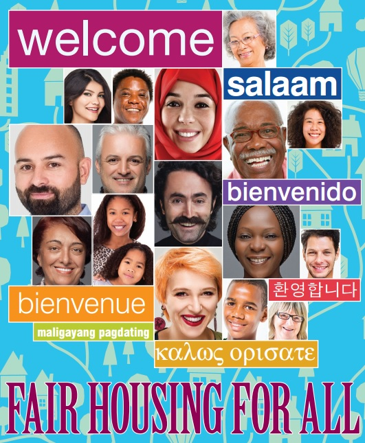 Fair Housign for All, diverse race photos