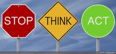 Signs: Stop Think and act