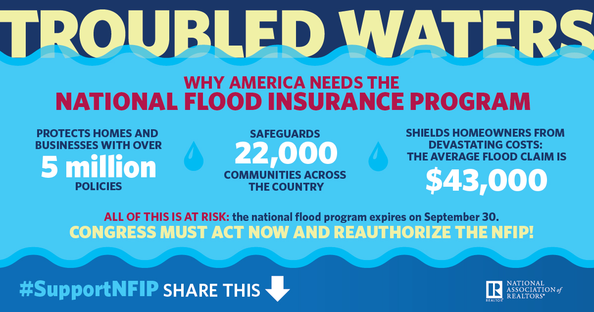 Flood insurance info graphic details below