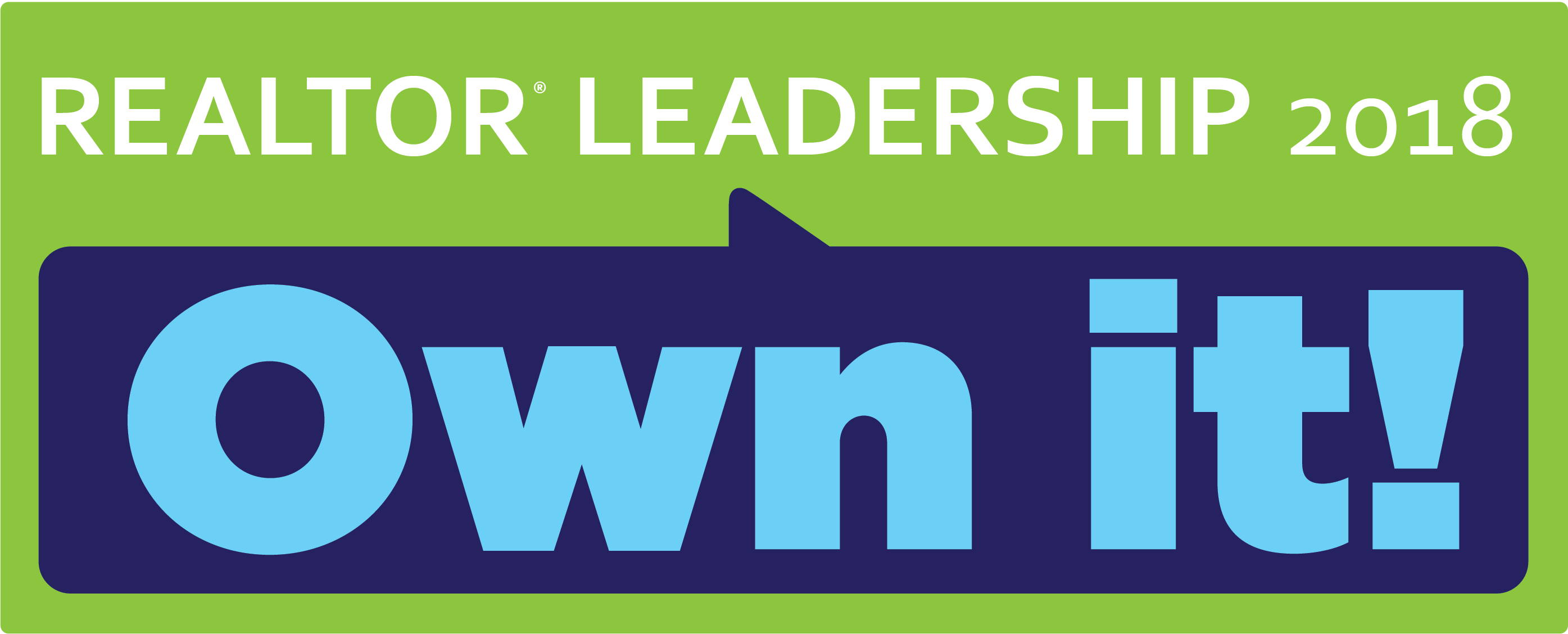 Logo: realtor leadership 2018 Own it