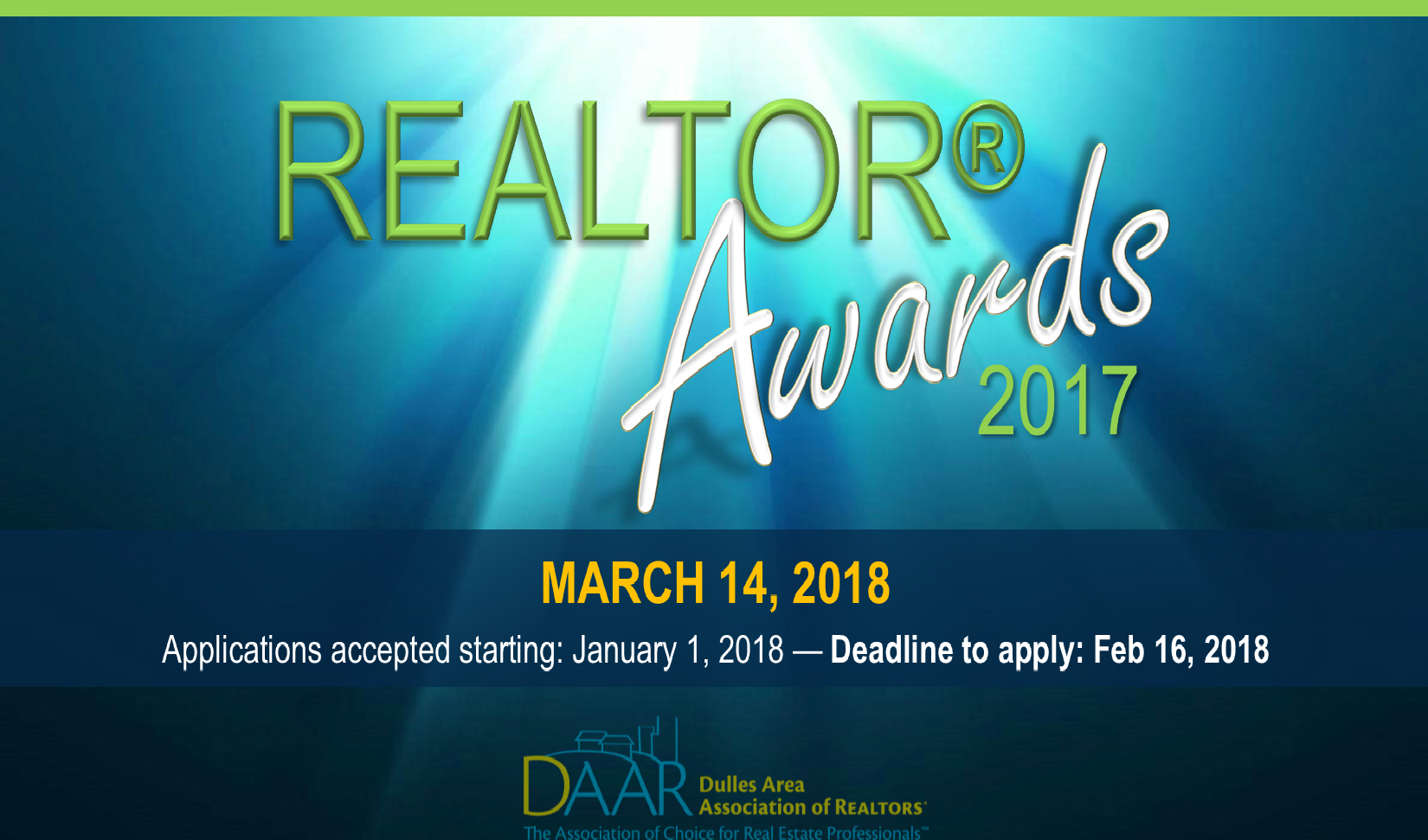 REALTOR® award ceremony, details below