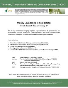 Money Laundering in Real Estate: How is it done? How can we stop it? 3/23 Post Thumbnail