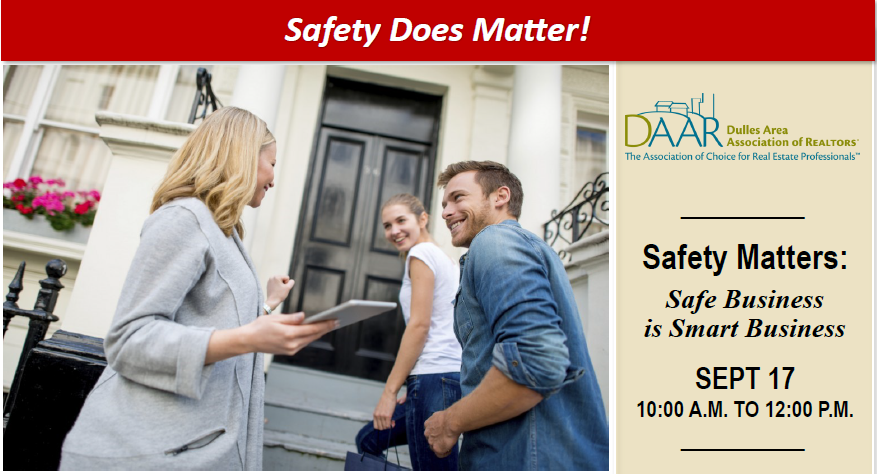 Safety Matters: Safe Business is Smart Business – September 17th! 10AM-12PM Post Thumbnail