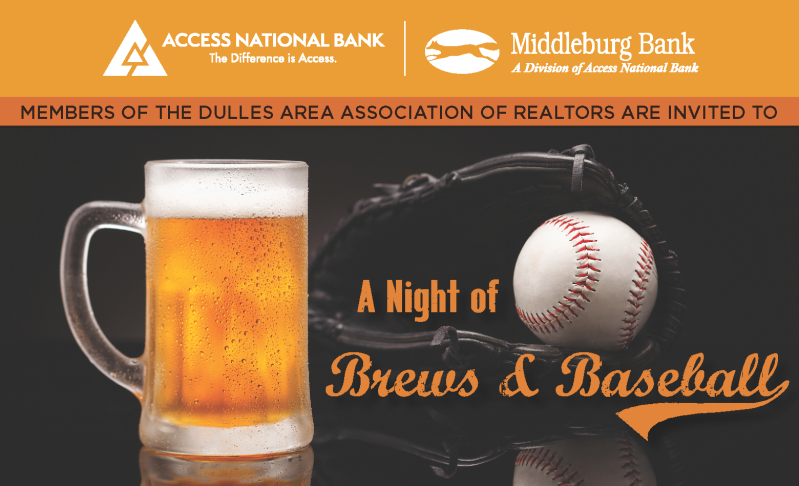You're Invited! A Night of Brews & Baseball: Wednesday, July 25, 2018 in Purcellville! Post Thumbnail