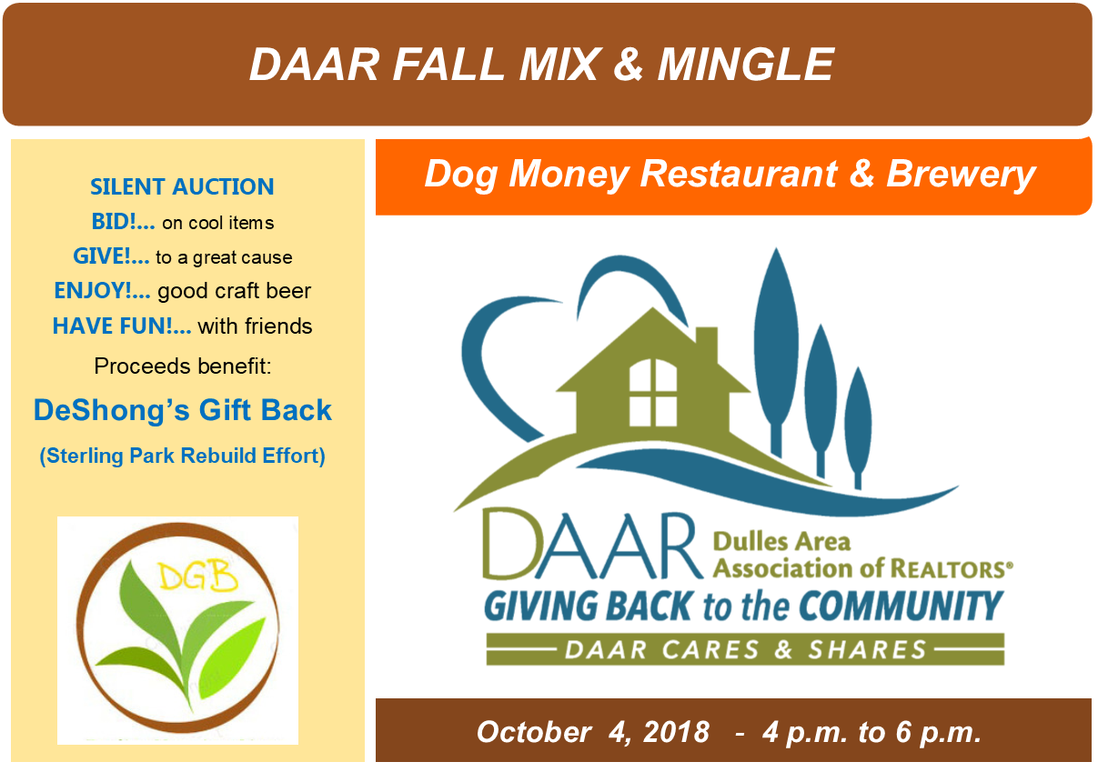 DAAR's Fall Mix and Mingle @ Dog Money -Thursday, 10/4, 4-6pm Post Thumbnail