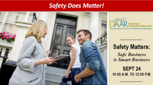 Safety Matters: Safe Business is Smart Business – September 24th! 10AM-12PM Post Thumbnail