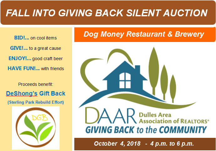 Fall into Giving Back Silent Auction @ Dog Money -Thursday, 10/4, 4-6pm Post Thumbnail