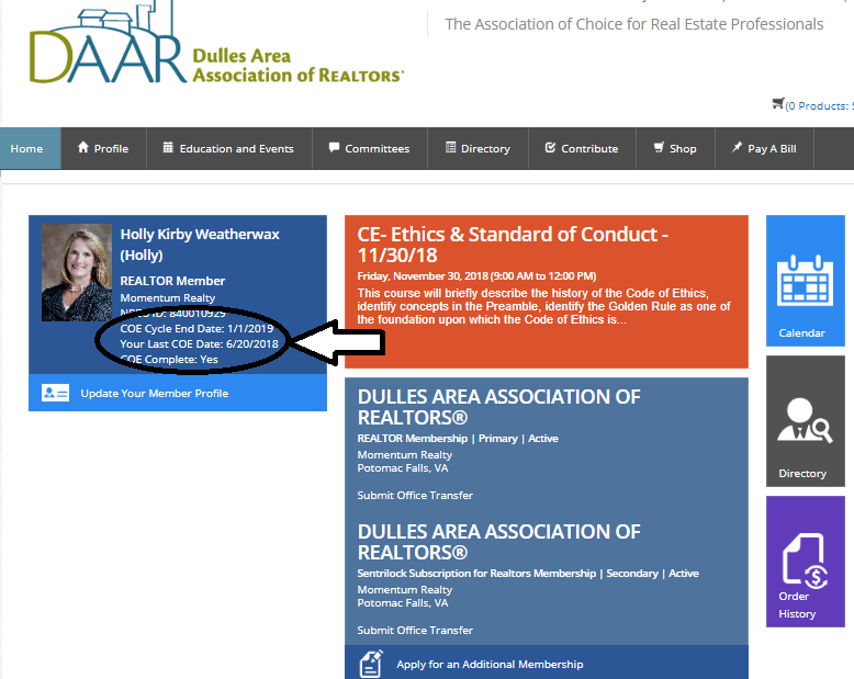 NAR's Ethics Requirement