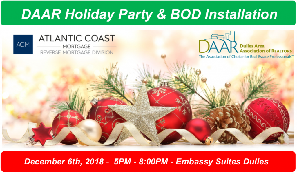 You're Invited! DAAR's Annual Holiday Party & BOD Installation – Thursday, 12/6, 5-8PM Post Thumbnail