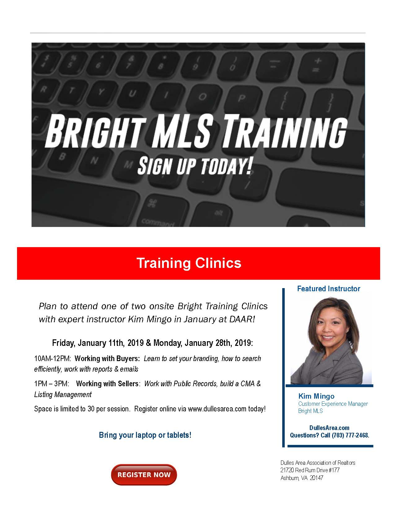 Register NOW: Bright MLS Hands-On Training Clinic – January 28th Post Thumbnail