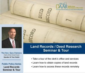 REALTOR® Field Trip! Loudoun Land Records/Deed Research Seminar and Tour – 5/14 Post Thumbnail
