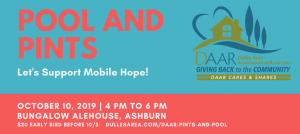 Let's Support Mobile Hope! Attend Pints and Pool – 10/10, 4PM Post Thumbnail