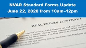 NVAR Standard Forms Updates Class – Monday, June 22, 2020, 10am-12pm Post Thumbnail