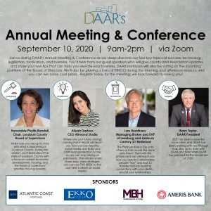 DAAR's 2020 Annual Meeting & Conference Post Thumbnail