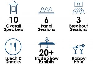 DAAR Flyer 10 speakers 6 Panel Sessions 3 breakout sessions lunch & snacks 20+ Tradeshow Exhibits, happy hour.